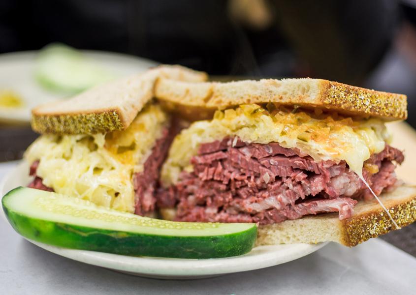 Reuben sandwich, New York City