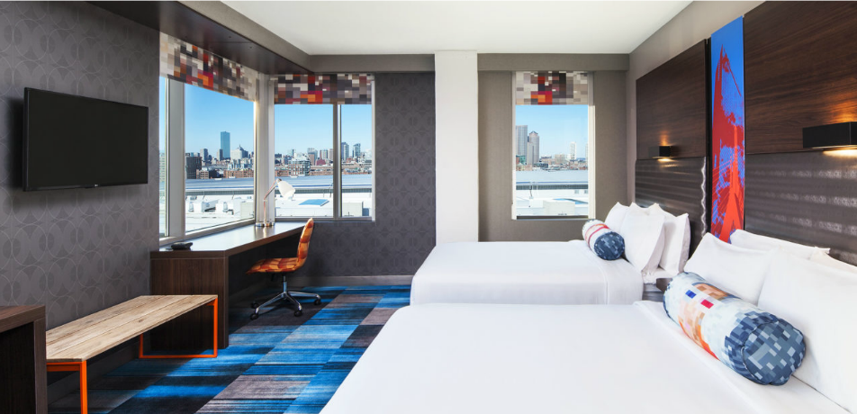 Aloft Boston Seaport guest room