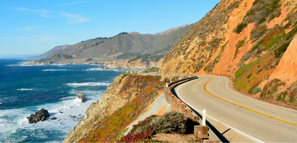 Highway 1 by Big Sur, California