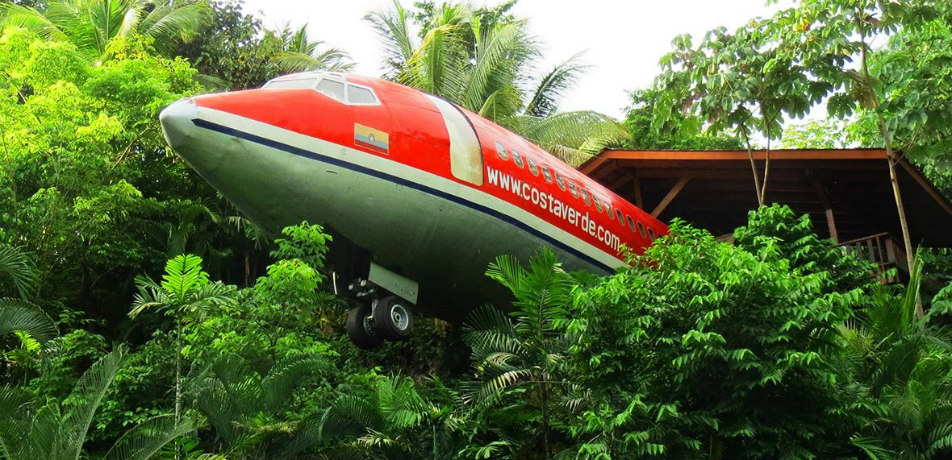 Boeing 727  suite in at Costa Verde Hotel in Costa Rica