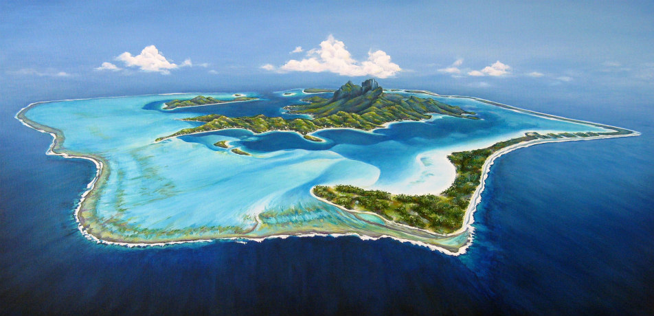 Aerial photo of Bora Bora