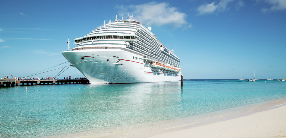 Cruise ship in Turks and Caicos