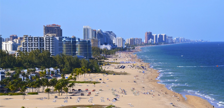 Beach in Fort Lauderdale, Florida