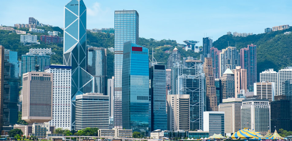 Hong Kong Financial District skyline