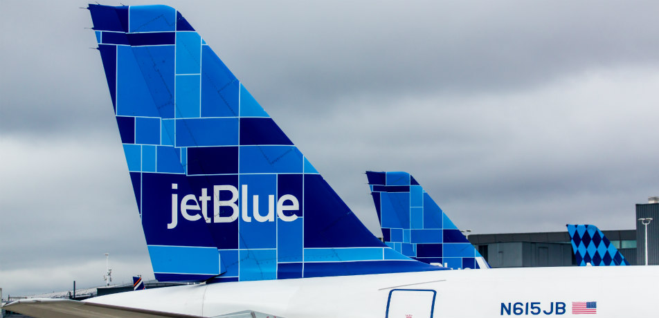 Jetblue airplane tailfin