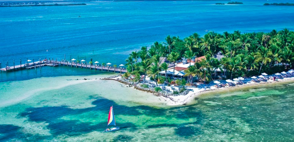 Aerial view of Little Palm Island Resort and Spa, Key West