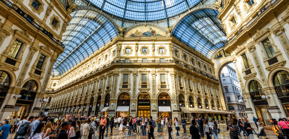 The Galleria Vittorio Emanuele II in Milan, Italy