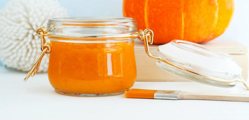 Pumpkin facial ingredients in a jar