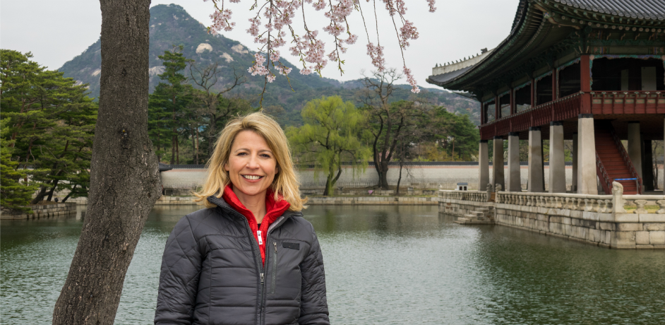 Samantha Brown in Seoul, South Korea