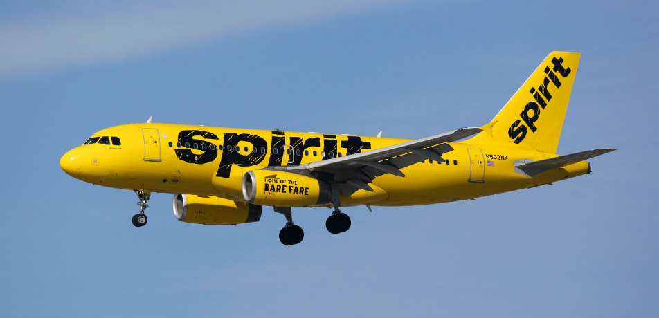 Spirit Airlines airplane