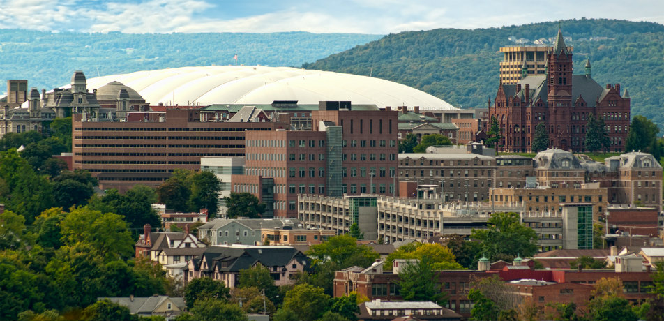View of the Carrier Dome in Syracuse, New York