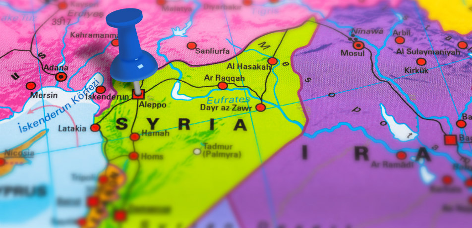 Syria on a map