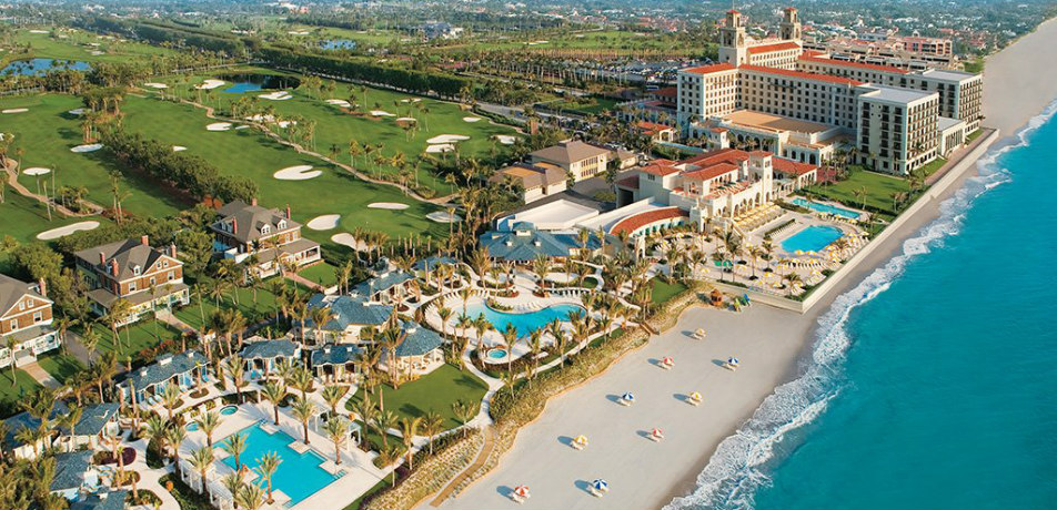 Aerial shot of The Breakers Palm Beach
