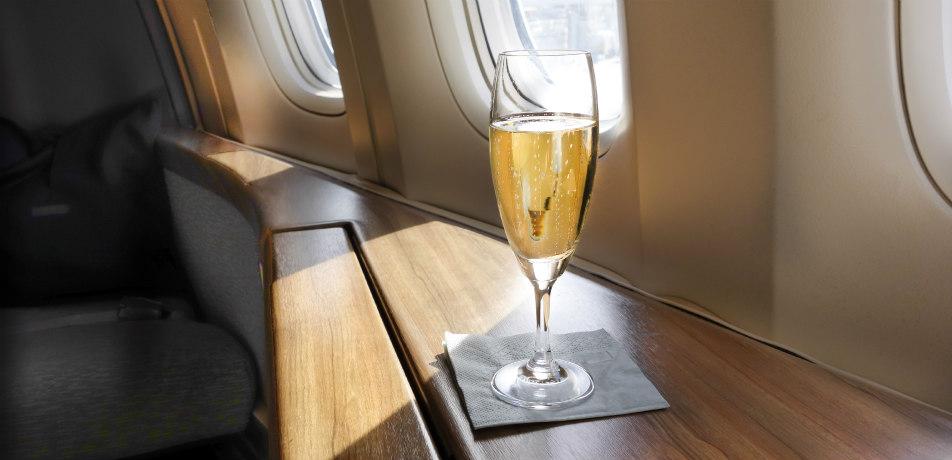 Wine on the plane