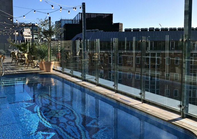Rooftop Pool at The Curtain London
