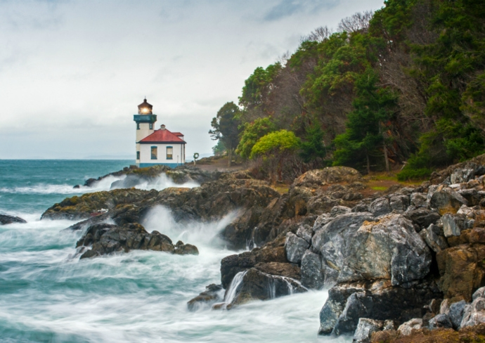 Lime Kiln Lighthouse, San Juan Islands, Washington