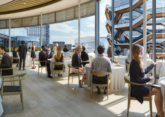 Estiatorio Milos restaurant, Hudson Yards