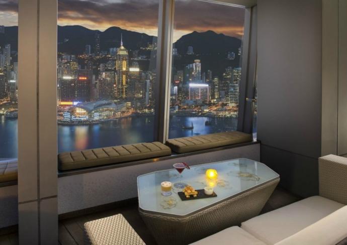 View from OZONE rooftop bar at the Ritz-Carlton, Hong Kong