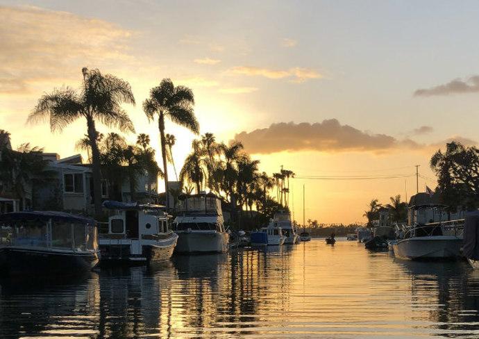 Naples Neighborhood on a Gondola, Long Beach, California