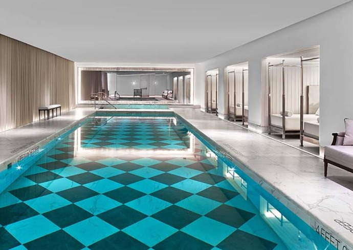 The Pool at the Baccarat Hotel