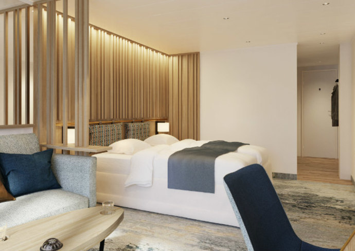 Rendering of an Ultramarine Balcony Suite