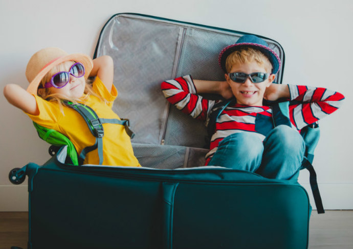 Kids ready to travel