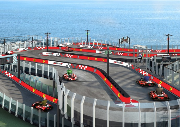 Norwegian Joy's Race Track
