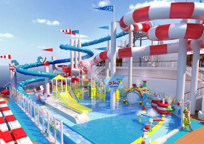Carnival Horizon's Dr. Seuss WaterWorks