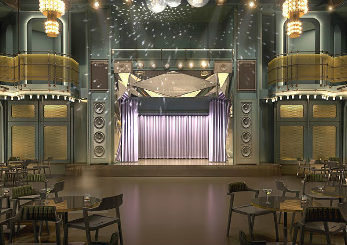 Rendering of The Manor nightclub on Scarlet Lady