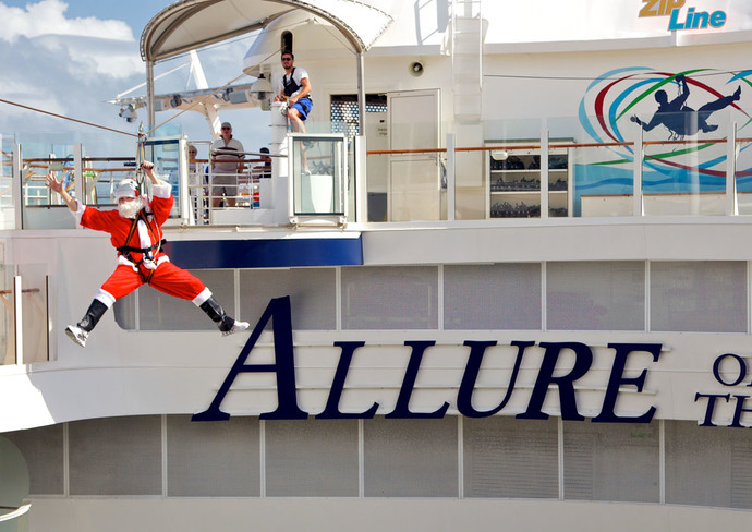 Santa Claus Zip Lines on Allure of the Seas