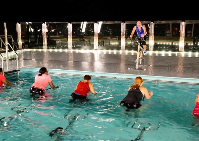 Aqua Cycling on MSC Divina