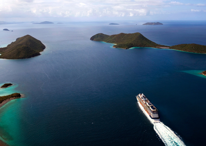 Celebrity Solstice leaving Tortola