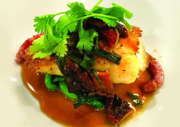 A signature sea bass dish from Roy Yamaguchi