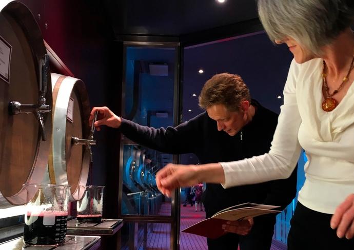 Wine blending on Koningsdam