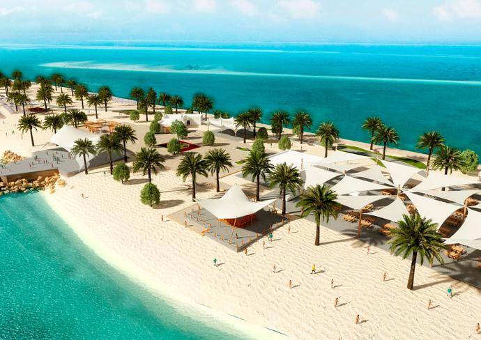 Rendering of Sir Bani Yas Island Beach Oasis