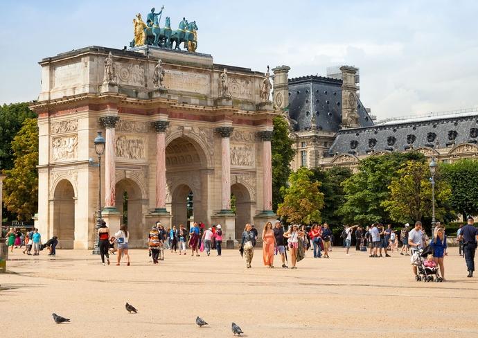 Place du Carrousel in Paris, France