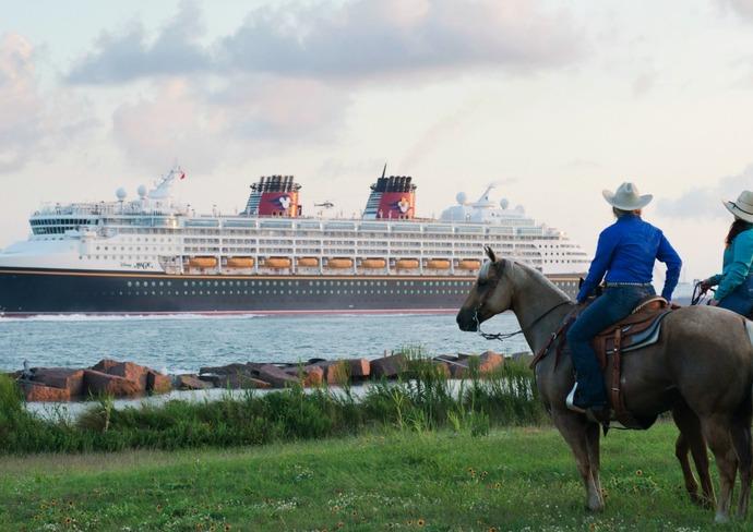 Disney Wonder cruising out of Galveston