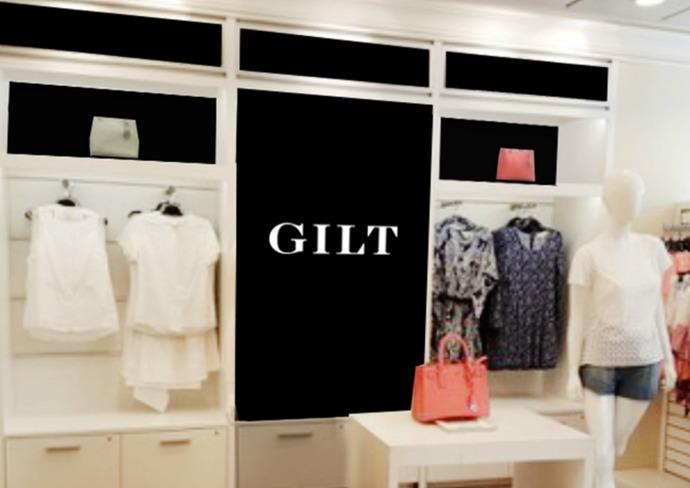 Celebrity's Gilt pop-up shop