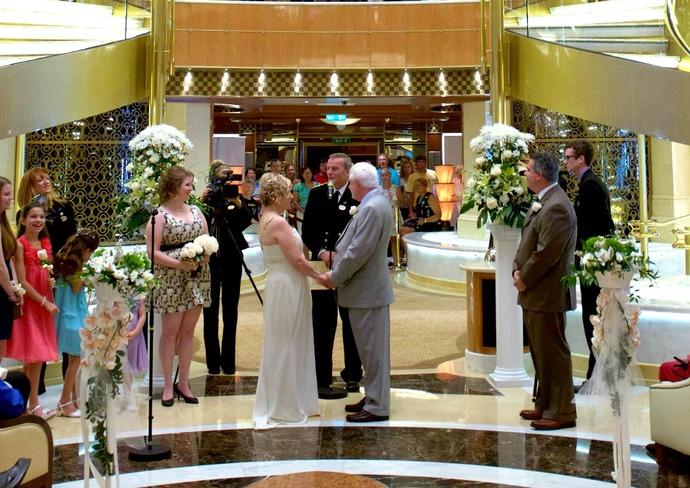 The Writer's Wedding on Regal Princess