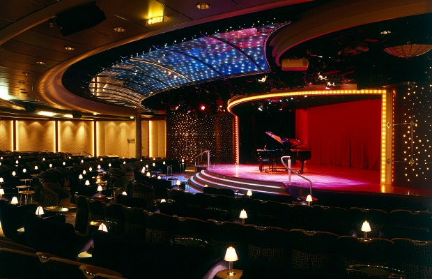Theater onboard the Crystal Serenity