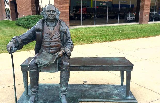 Martin Van Buren sculpture