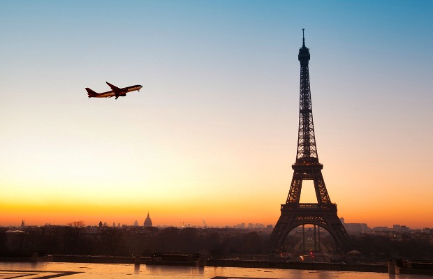 Flight over Paris
