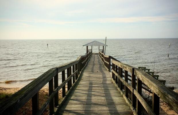 Pier in Fairhope, AL