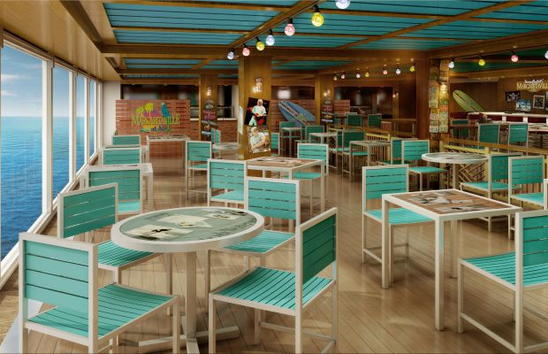 A rendering of Jimmy Buffett's Margaritaville on Norwegian Escape