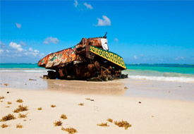 Painted Tank on Culebra