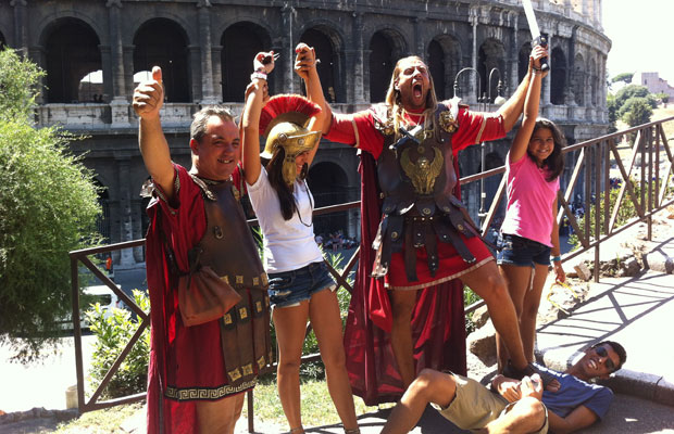 Roman Gladiators at The Collosseum