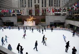 NYC Rockefeller Center Ice Skating