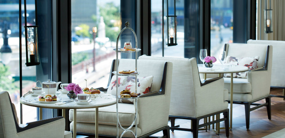 High tea at The Langham, Chicago