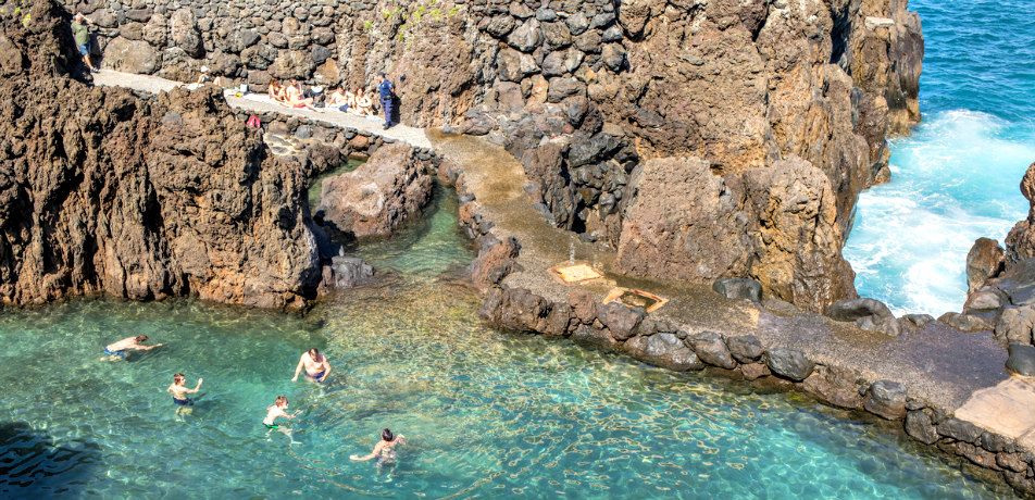 Lava Pools in Madeira, Portugal