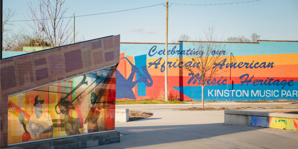 Kinston Music Park Mural